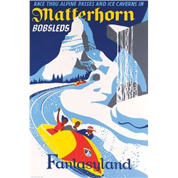 "Disneyland ""Matterhorn Bobsleds"" attraction poster"