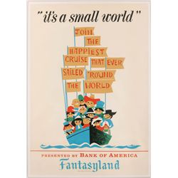 "Original hand-silkscreened poster for the Disneyland ""It's a Small World"" attraction"