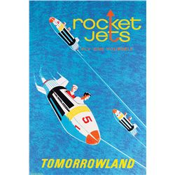 "Original hand-silkscreened poster for the Disneyland ""Rocket Jets"" attraction"