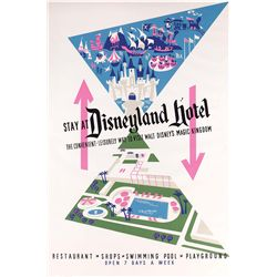 Original hand-silkscreened poster for the Disneyland Hotel