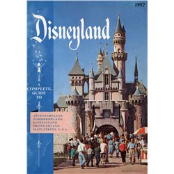 Walt Disney signed 1957 Disneyland Guide