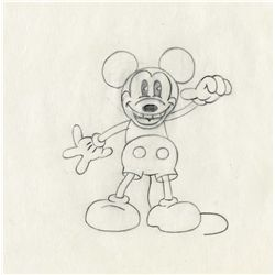 Original production drawing of Pie-Eyed Mickey from Minnie's Yoo-Hoo