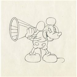 Original production drawing of Pie-Eyed Mickey from an unknown 1930s production