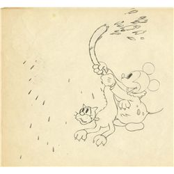 Original production drawing from Mickey's Nightmare