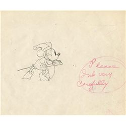 Original production drawing from Mickey's Good Deed