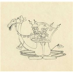 Original production drawing from Mickey In Arabia