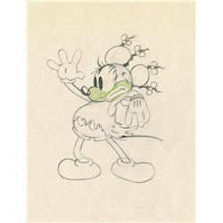 Original production drawing from The Mickey's Mellerdrammer