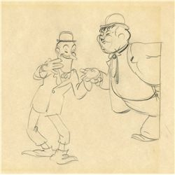 Rough animation drawing from Mickey's Gala Premiere