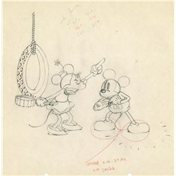 Original production drawing from Camping Out