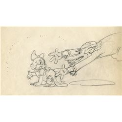 Original production drawing from The Big Bad Wolf