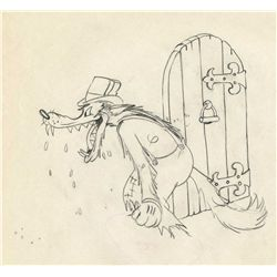 Two original production drawings from The Big Bad Wolf