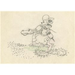 Original production drawing from Two-Gun Mickey