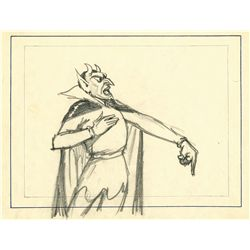 Original production layout drawing of Pluto from Goddess of Spring