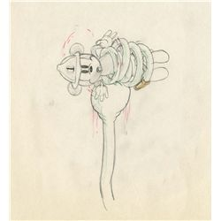 Original production drawing from Mickey's Fire Brigade