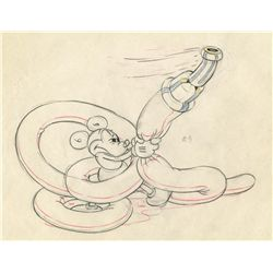 Original production drawing from Mickey's Garden