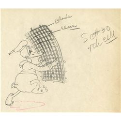 Original production drawing from Mickey's Service Station
