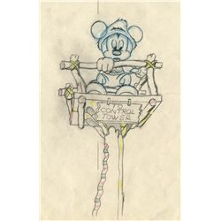 Original production drawing from Mickey's Man Friday