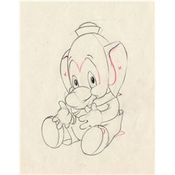 Original production drawing from Elmer Elephant