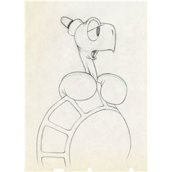 Two original production drawings from Toby Tortoise Returns