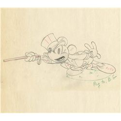Two original production drawings from Mickey's Circus