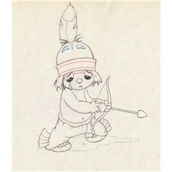 Original production drawing from Little Hiawatha