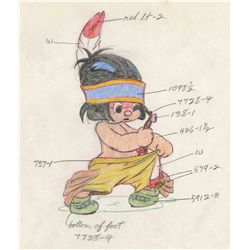 Hank Porter original color model drawing from Little Hiawatha