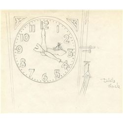 Clock Cleaners original layout drawing