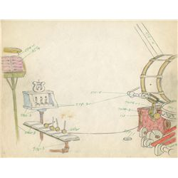 Original production drawing and matching layout from Mickey's Amateurs