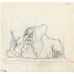 Original production drawing from Snow White and the Seven Dwarfs