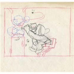 Original production layout drawing from Snow White and the Seven Dwarfs