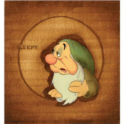 Original production cel of Sleepy from Snow White and the Seven Dwarfs