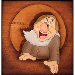 Original production cel of Sneezy from Snow White and the Seven Dwarfs