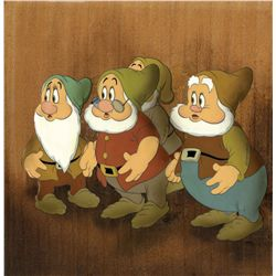 Original production cel of Dwarfs from Snow White and the Seven Dwarfs