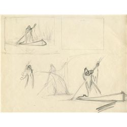Original production character sketches from Snow White and the Seven Dwarfs