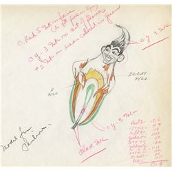 Original production drawing from The Moth and the Flame