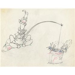 Original production drawing from Mother Goose Goes Hollywood