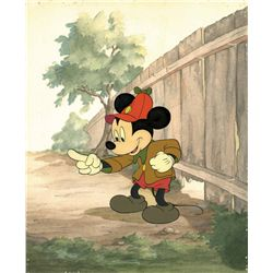 Original production cel with production background from The Pointer