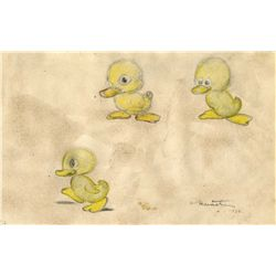 Ferdinand Horvath Signed Concept for The Ugly Duckling