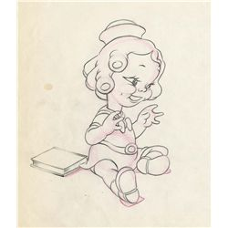 Original production drawing of Shirley Temple from The Autograph Hound
