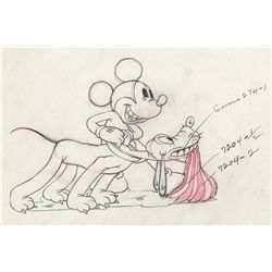 Original production drawing from Society Dog Show
