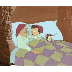 Original production cel and production background from Pinocchio