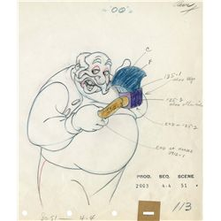 Original production drawing from Pinocchio