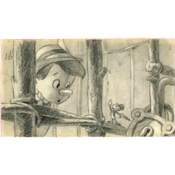 Original storyboard drawing from Pinocchio