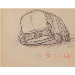 Rough animation drawing from Pinocchio