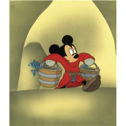 Original production cel of Mickey Mouse as the Sorcerer's Apprentice from Fantasia