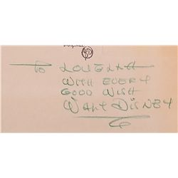 Walt Disney signed original production cels and preliminary production background from Fantasia