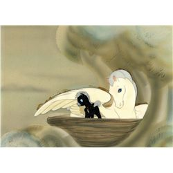 Original production cel of Pegasus Mother and baby from Fantasia
