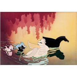 Original production cel of pegasus family on Courvoisier background from Fantasia