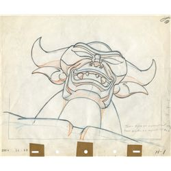 Original production drawing of the Chernabog from Fantasia