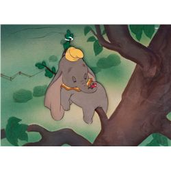 Original production cel of Dumbo and Timothy from Dumbo